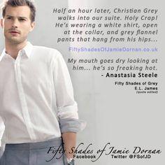 Jamie Dornan as Christian Grey.Fifty Shades of Grey Shades Of Grey Film, Fifty Shades Movie, Fifty Shades Trilogy, Grey Quotes, Grey Flannel, Christian Grey, Jamie Dornan, To My Future Husband, How To Look Better