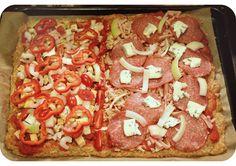 Terveellisempää pizzaa. Vhh-pohja! Katso täyteideaksi paprika, sipuli, tomaatit, aurajuusto... Mmh.