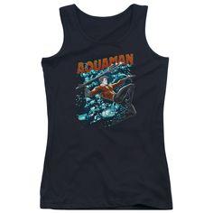 Aquaman: Aqua Bubbles Junior Tank Top