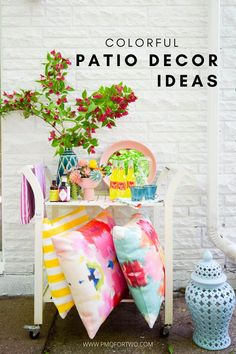 Looking for cohesive and polished ways to bring the color? I've got you covered when it comes to easy colourful patio ideas this summer.