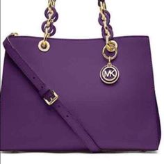 PURPLE MICHAEL KORS CYNTHIA THE HOLY GRAIL OF MICHAEL KORS CYNTHIA'S.....LOL Michael Kors Bags