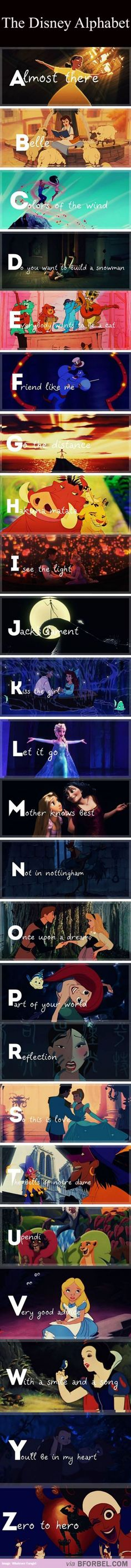 The Disney Songs Alphabet From A to Z: my future kids will know this by heart.