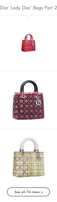 """""""Dior 'Lady Dior' Bags Part 2"""" by leanne-mcclean ❤ liked on Polyvore featuring fillers, bags, shoes, accessories, backgrounds, handbags, dior, borse, сумки and christian dior"""