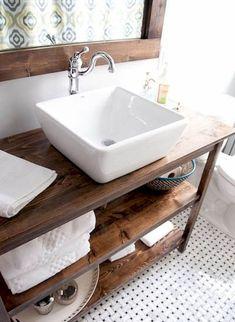 45 beautiful farmhouse bathroom remodel decor ideas