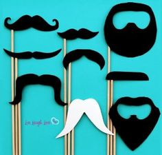 Amazon.com: Mustache Photo Props on a Stick. 9 Unique Pieces and FREE 4x6 Poster for Photo Booth and Wedding.: Home & Kitchen