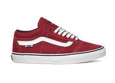 TNT SG de Vans rojo/blanco
