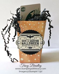 Treat Packaging Day 6 – Popcorn Box | Stamping With Tracy