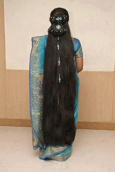 long Indian hair sarees | Indian longhair Girls with super sarees - a gallery on Flickr