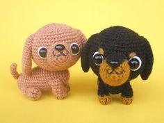 Dachshund Puppy PDF Crochet Pattern por jaravee en Etsy