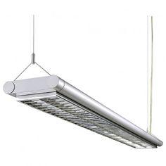 WORK LIGHT Pendelleuchte, silbergrau, G5, 2x54W / LED24-LED Shop
