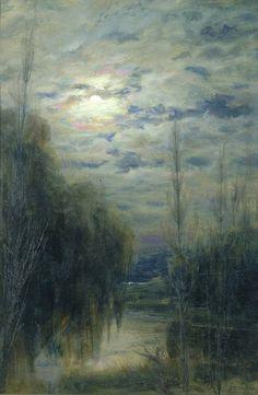 Alfredo Helsby (July 22, 1862 - 1933): Full Moon, Limache, Chile,