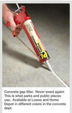 19 Mind Blowing Backyard Hacks If you struggle with preventing weeds growing up through the sidewalk cracks, use concrete crack filler to prevent weeds from sprouting. Outdoor Projects, Home Projects, Outdoor Decor, Outdoor Patio Pavers, Driveway Repair, Diy Home Repair, Home Repairs, Front Yard Landscaping, Outdoor Gardens