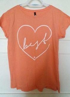 Kup mój przedmiot na #vintedpl http://www.vinted.pl/damska-odziez/koszulki-z-krotkim-rekawem-t-shirty/16100792-lososiowa-koszulka-z-nadrukiem-sinsay