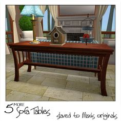 Moar Stuff For & About The Sims: ~ More Sofa Tables ~ Basegame + Bonus ~