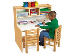 Classic Birch Space-Saver Writing Center at Lakeshore Learning