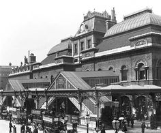 Broad Street Station, 1898. Closed 1986, site is under the Broadgate development.