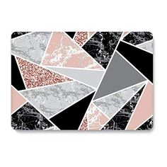 Hard Case for MacBook pro 15 inch Retina Model AQYLQ Ultra Slim Matte Plastic Rubber Coated Protective Shell Cover, White & Black Marble Macbook Pro 15 Inch, Macbook Pro Case, Keyboard Stickers, Apple Laptop, Plastic Card, Ipad Pro 12 9, Pink Marble, Pink Patterns, Cell Phone Accessories
