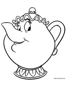 Beauty And The Beast Teacup Coloring Pages from Printable Beauty and The Beast Coloring Pages. On this page, you can print ant color a beautiful coloring picture of the Disney cartoon Beauty and the Beast. Belle is a clever young woman held capt Belle Coloring Pages, Disney Princess Coloring Pages, Disney Princess Colors, Colouring Pages, Coloring Pages For Kids, Coloring Books, Beauty And The Beast Drawing, Belle Beauty And The Beast, Disney Kunst