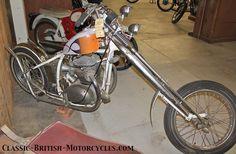 bsa chopper, triumph chopper, bsa choppers, triumph choppers, rat bikes British Motorcycles, Cars And Motorcycles, Hd Dream, Triumph Chopper, Rats, Old School, Bicycle, Third, Rat Bikes