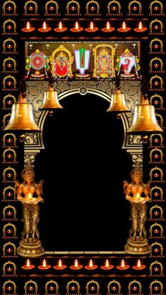 Boarders, Krishna, Empty, Arch, Table Lamp, Lighting, Frame, Home Decor, Picture Frame