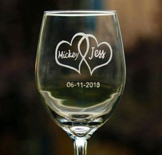 Items similar to Etched wine glass- Wedding wine glass - wedding gift ideas - birthday gift - housewarming gift for couples - bridal gift ideas - bridal gift on Etsy