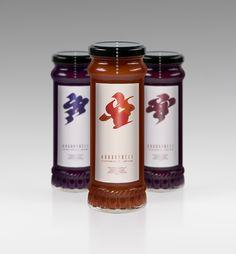 Bakonybél jam packaging - Eszter Zsofi Varga branding