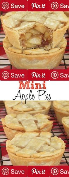 "Mini Apple Pies Makes 10-11 mini pies Ingredients Vegetarian Produce 5 cups Granny smith apples small Refrigerated 1 Egg Condiments 1 tbsp Lemon juice Baking & Spices  cup Brown sugar 1  tsp Cinnamon  cup Cornstarch  cup Granulated sugar  tsp Nutmeg 1 pinch Salt 1 Sugar Bread & Baked Goods 1 package (2 9"") store-bought pie crust store-bought Liquids 2 cups Water"