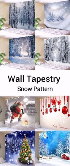 Snow pattern wall tapestry