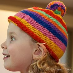 Ravelry: Project Gallery for Simple Beanie aka Lollipop Hat pattern by Elena Nodel