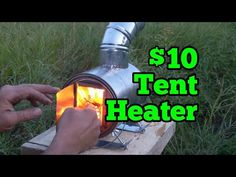 Super light weight and easy to build, this hot tent heater is guaranteed to keep you warm on your next snowy winter mountain adventure! Tent Heater, Camping Heater, Diy Heater, Stove Heater, Diy Camping, Camping Stove, Camping Life, Camping Hacks, Survival Tent