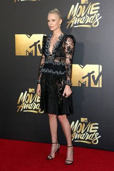 Charlize Theron in Alexander McQueen Every Look From the Red Carpet at the 2016 MTV Movie Awards