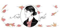 Virginia Wollf Doodle 25 01 2018 La scrittrice e femminista inglese ricordata da Google a 136 anni dalla nascita, il 25 gennaio 1882. Fu autrice di romanzi e di trattati sulla condizione delle donne quali Una stanza tutta per se'