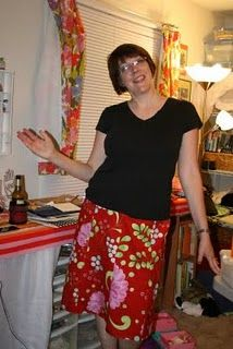 A skirt I MADE. Sewed from fabric.  Yeah, I'm a bit proud.