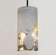 Design Hängeleuchte aus Beton // hanging lamp made out of concrete by LJ Lamps… Beton Design, Luminaire Design, Concrete Design, Design Design, Modern Design, Concrete Light, Concrete Lamp, Concrete Board, Concrete Furniture