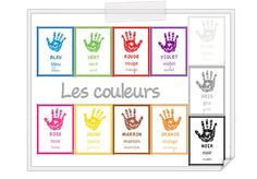 Learning Games For Toddlers, Toddler Learning, Work Activities, Infant Activities, French Flashcards, French Colors, French Songs, Free Frames, French Resources