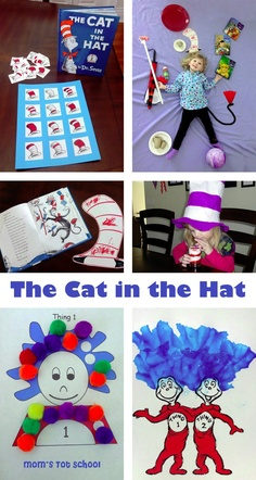 The Cat in the Hat, by Dr. Seuss from Mom's Tot School