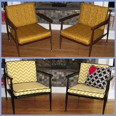 Easily reupholster #midcentury #modern #furniture finds for a chic, updated look (via @Maggie Debroeck Overby)