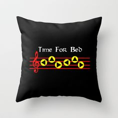 Time For Bed - Zeldas Lullaby (The Legend Of Zelda: Ocarina Of Time) Throw Pillow by Dsavage94 - $20.00