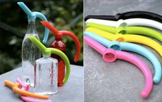 This year water your window garden and stay green with these colorful pieces that turn any bottle into a watering can