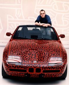 UNTITLED (PAINT ON BMW) - KEITH HARING, 1990