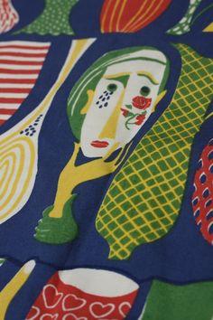 Stig Lindberg fabric detail.