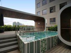 22 Dorcas St, Melbourne Love the pool tile. Pinned to Pool Design by Darin Bradbury.