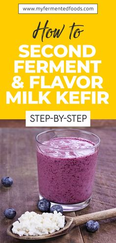 If you have already figured out the correct measures of ingredients and method to ferment kefir, you can now graduate to the next level of making the second ferment. Here's all that you need to know about kefir second fermentation and the best ways to flavor your milk kefir. . . . #MyFermentedFoods #FermentedDrink #Fermentation #Fermenting #FermentedFoods #Kefir #MilkKefir #KefirBenefits #SecondFermentKefir #FlavorMilkKefir Probiotic Foods, Fermented Foods, Whole Food Recipes, Healthy Recipes, Healthy Foods, Kefir Benefits, Smoothie Recipes, Drink Recipes, Flavored Milk