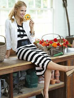 055c04f53d Striped Dress - Versatile Fashions for Winter and Spring - Good  Housekeeping Striped Maxi Skirts