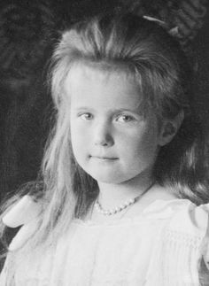 Russia. Grand Duchess Anastasia Nikolaevna Romanova of Russia  (1901 – 1918) was the youngest daughter of Tsar Nicholas II of Russia, the last sovereign of Imperial Russia, and his wife Alexandra Fyodorovna.