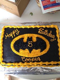 Batman cake for superhero party
