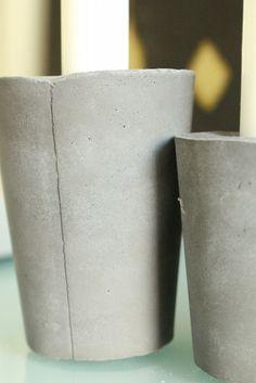 Cement, Concrete, Pillar Candles, Diy, Decorations, Home Decor, Decoration Home, Bricolage, Room Decor