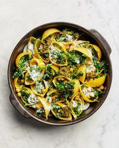 Gevulde pasta met pesto en spinazie · EVA maakt het plantaardig