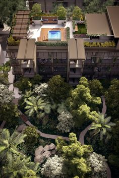 "This apartment block has a new way of dealing with the heat - ""The focus of the development is on large amounts of greenery since 30 per cent of the site will be planted"""