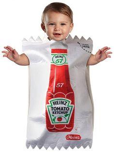 Costume:  Ketchup Packet Baby Onesie